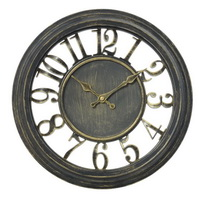 retro vintage iron wall clock decorative antique metal for living room bedroom office use