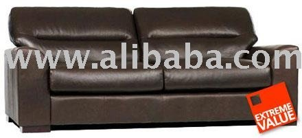 Stamford Dark Brown Leather Sofa Range