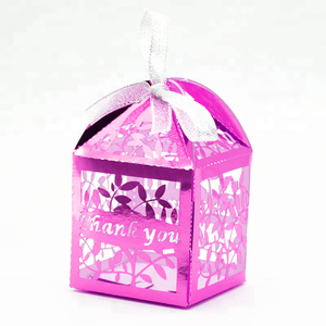 leaves favor box for wedding or party