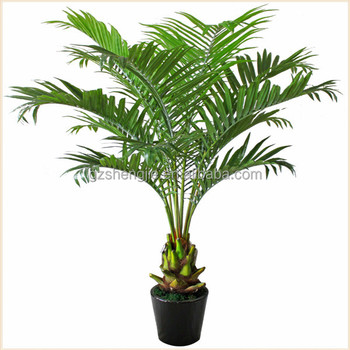 Miniature Plastic Palm Tree Artificial Green Plants For Home Decoration Plant