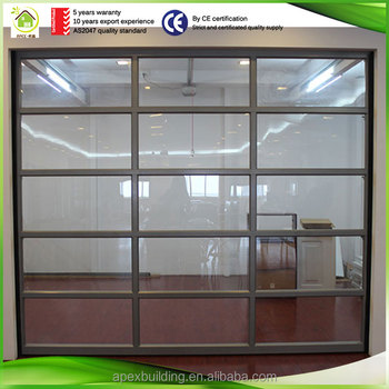 Aluminum Glass Garage Door Panels Prices