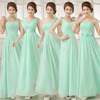 1d3a10e5f45 MINT GREEN BRIDESMAID DRESSES - Yuman Dakren