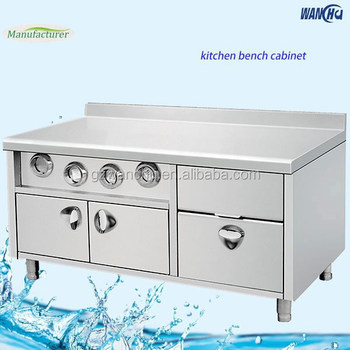 High Quality Restaurant Stainless Steel Fast Food Kitchen Working Table/Center Island