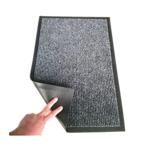 Polyester rib entrance mat fire proof door mat outdoor floor mat