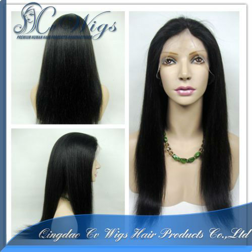 High quality 100% remy human hair full lace wig for black women