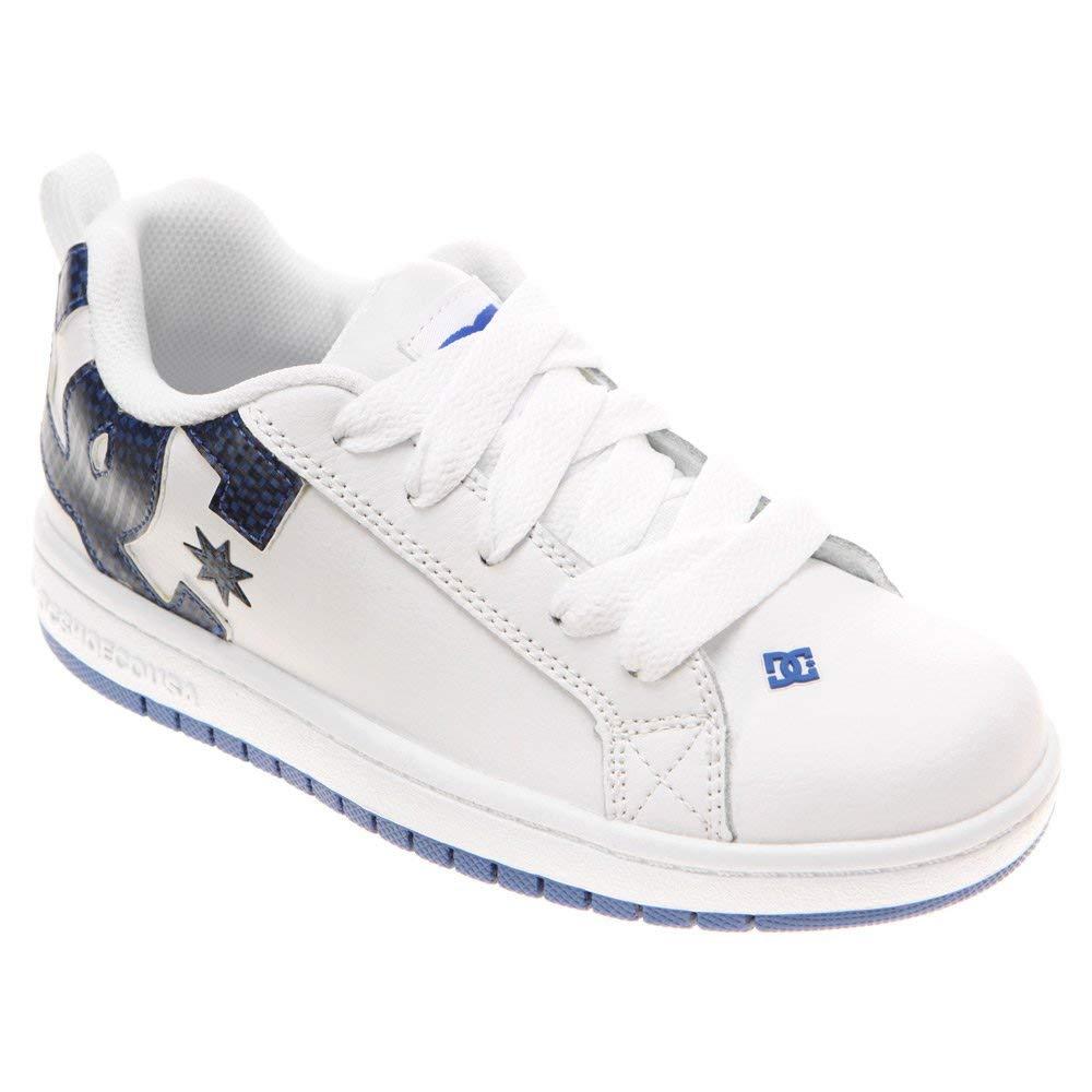 DC Shoes Boys Shoes Court Graffik - Low-Top Shoes - Low Shoes - Boys - US 4.5 - White Wht/Royal/Wht US 4.5 / UK 3.5 / EU 35.5