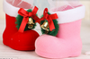 Hanging Christmas decorations shoes plastic christmas shoe for gift and candy decoration for shoe and boot shop