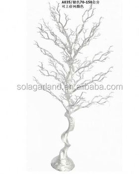 Artificial Silver Glitter Faux Manzanita Branch For Wedding Tree Party