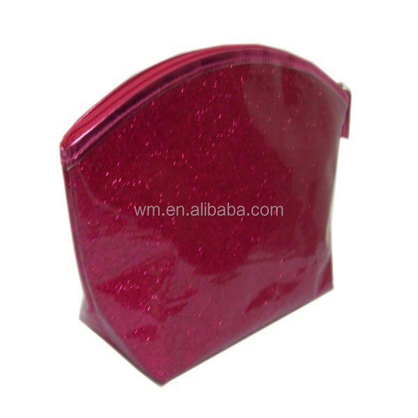 fashion PVC glitter cosmetic bag with zipper