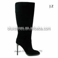 OB59 Nine West Ivanbella Zipper Leather High Heel Knee Boots Shoes