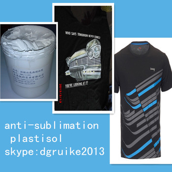 Siebdruck Art, anti- Sublimation plastisol tinte für siebdruck textilien