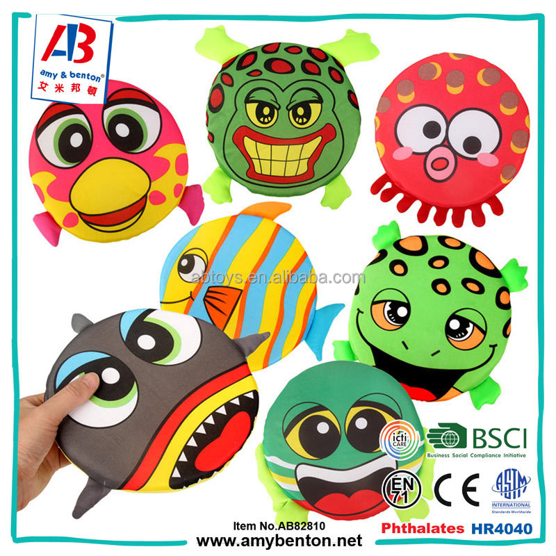 Hot selling cartoon sponge flying disc soft foam frisbee