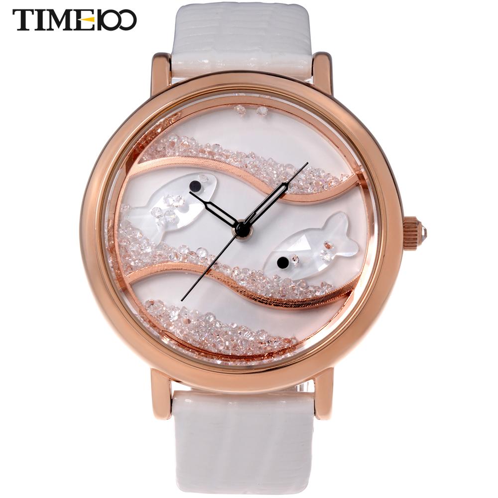 Uhren & Schmuck White Ladies Leather Fashion Watch With Flower Face
