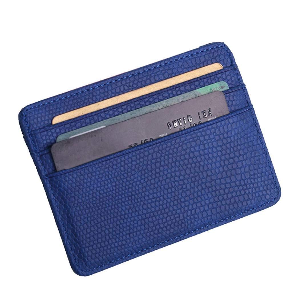 Kleidung & Accessoires Herren-accessoires Slim Pu Leather Wallet Women Credit Card Holder 4 Card Slots Flexible Clip Green
