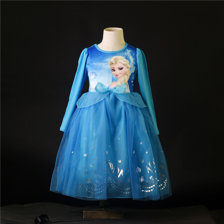 New products good quality frozen dress anna elsa from manufacturer