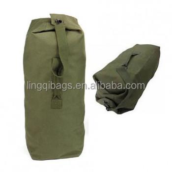 Heavy Duty Army Green Canvas Military Kit Bag