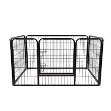 "28"" 4 Sided Metal Dog Panels, Outdoor Pet Exercise Playpen Fence"