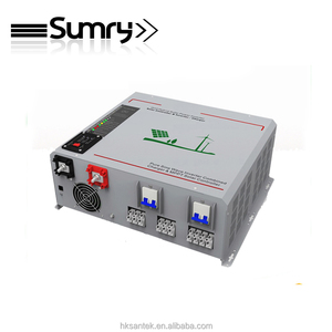 3 in one single phase sine wave solar panel inverter 3000w 24v 230v 50hz / dc to ac mppt inverter