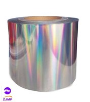 Aluminum metallized polyester film for cardboard lamination