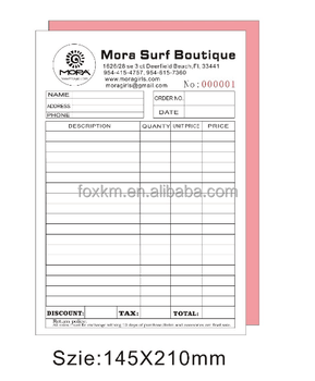 Personalised A Invoice Receipt Duplicate Book Buy Invoice Receipt - Buy invoice book