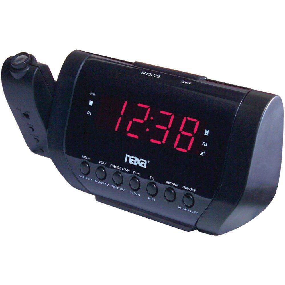 Get Quotations · 1 - Projection Dual Alarm Clock, AM/FM radio with digital  preset memory,