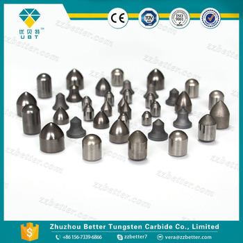 Tungsten carbide inserts for rock drilling