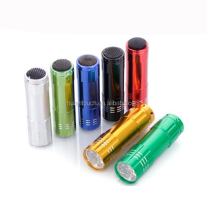 Factory Direct Sell Aluminum Alloy Gift Portable Torches 9LED Mini Flashlight