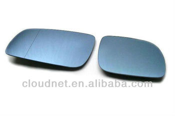 Blue Tinted Aspherical Side Mirror Glass (Stubby Mirror) For VW Volkswagen Golf MK4
