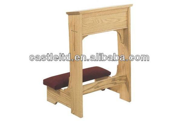 Reclinatorio acolchado escritorio oraci n con estanteria for Sillas para iglesia en madera