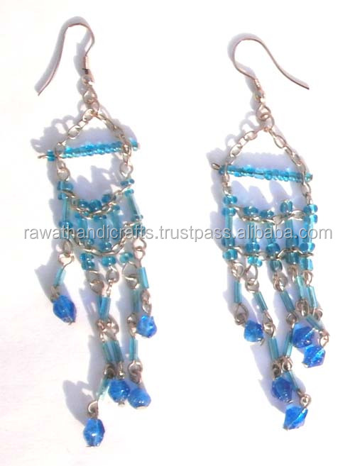 Glass Beads Earrings handmade beaded necklaces