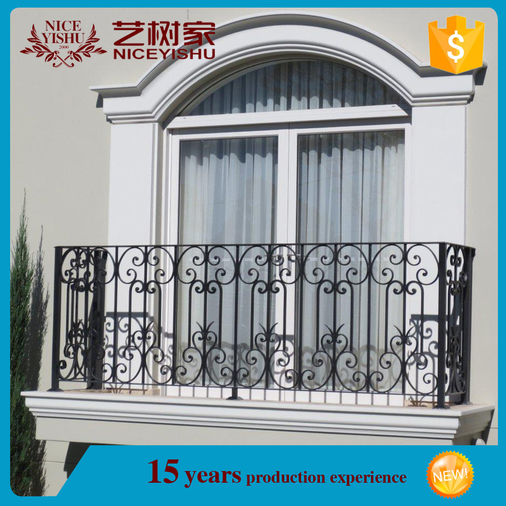 china manufacture cheap used modern customized wrought iron terrace railing design/luxury ornamental aluminum balcony balustrade