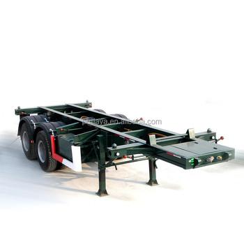 Philaya Factory Price 8 Wheels 20 Feet 2 Axle Flatbed Trailer Price ...