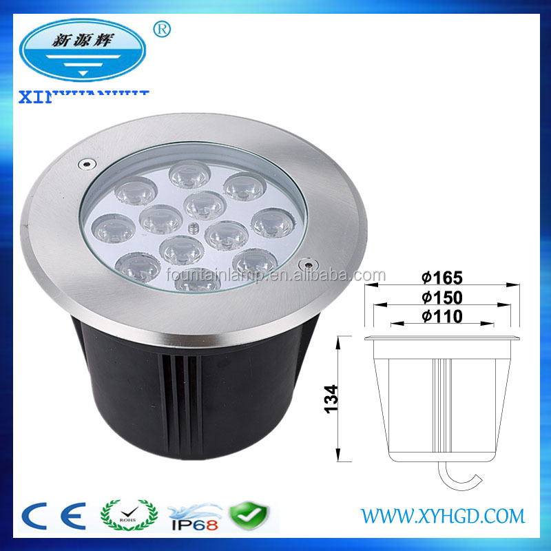 Cheap CE Rohs Stainless Steel Lamp Body IP68 Underground Lighting, LED buried Light