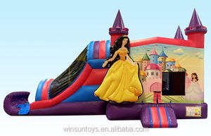 27Ft Inflatable Combo Jumping Bouncy Slide Air Princess Castle House