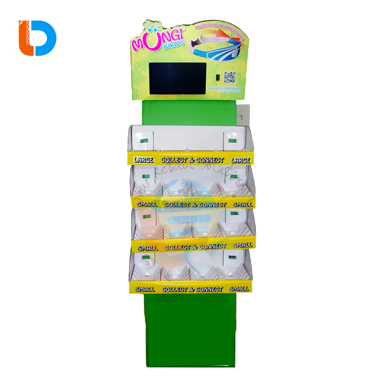 Chinese Manufacturer Custom POP Up Display With 7 Inch or 10 Inch LCD cardboard lcd display