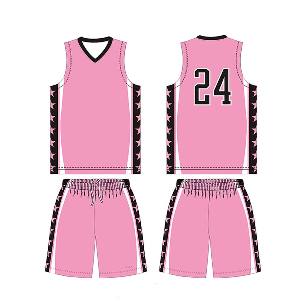 b7b4c5c2a71 Plain Cheap Basketball Jerseys New Custom Sublimation Pink Basketball  Uniforms