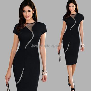 C21394b Damen Elegant Sexy Unregelmäßige Netzrücken Reißverschluss ...