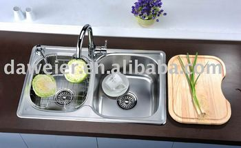 Whole sale kitchen sinks with double bowl ck225l buy for Whole kitchen for sale