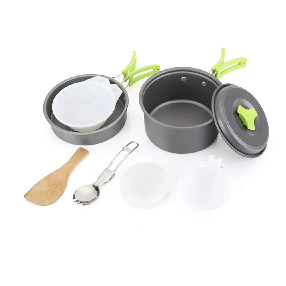 90e0fe0e567 Get Quotations · Ragdoll50 Outdoor Tableware Camping Cookware 1-2 Person  Aluminum Alloy Non-stick Pots Frypan