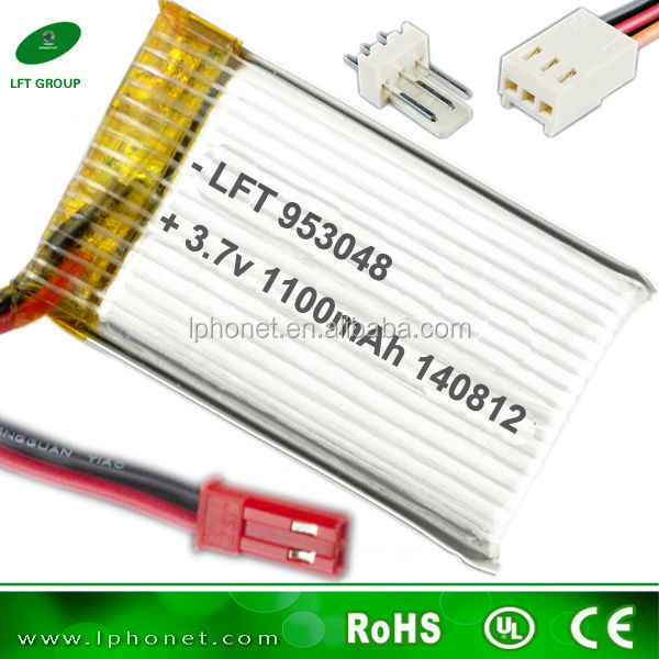 953048 1100mah 3.7v helicopter li-ion battery pack for nine eagle rc lipo battery