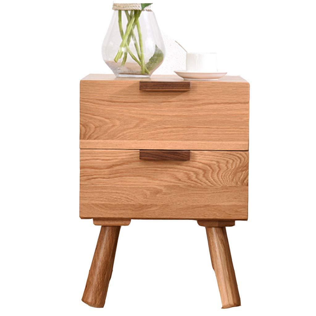 Nightstands Bedside Table Multi-Function Cabinet Mini Side Cabinet Solid Wood Drawer Bedroom Storage Cabinet Storage Cabinet Strong Bearing Capacity (Color : Wood Color, Size : 414054.5cm)