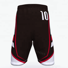 Neue stil erwachsene jugend polyester stoff oem sublimierte praxis <span class=keywords><strong>basketball</strong></span> kleidung design <span class=keywords><strong>shorts</strong></span> farbe <span class=keywords><strong>schwarz</strong></span> und rot