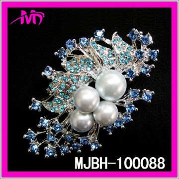 bulk rhinestone brooches pearl brooch for wedding bridal MJBH-100088