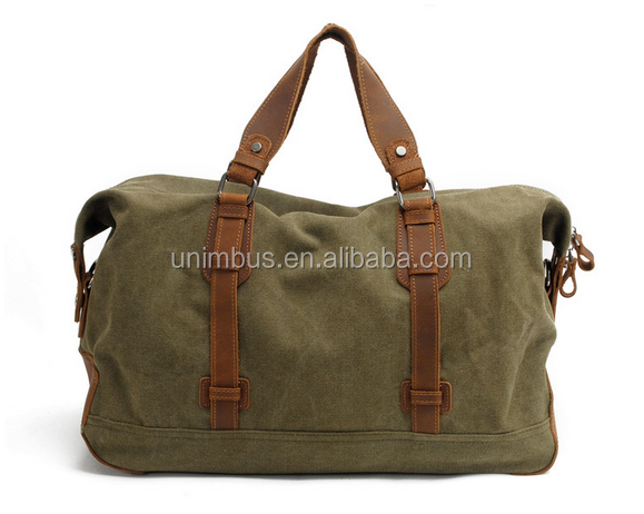 Blue Men's Vintage Canvas Satchel School Military Shoulder Bag Messenger Bag