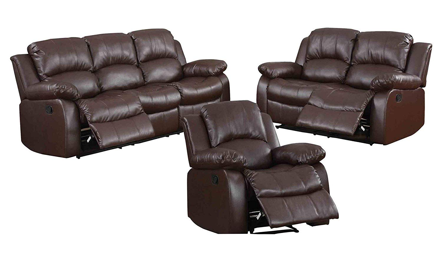 Awesome Cheap Brown Leather Reclining Sofa Find Brown Leather Interior Design Ideas Pimpapslepicentreinfo