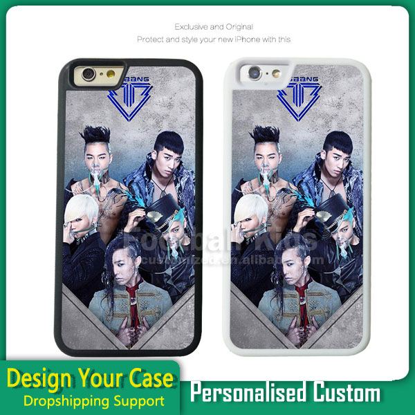 2017 latest 5g mobile phone for iphone 6 plus case 2016 ,tpu sublimation 2d case for iphone 6s plus with aluminum sheet rubber