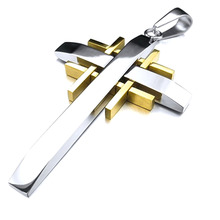 Hot Designs Stainless Steel Custom Cross Pendant Jewelry