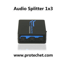 SPDIF/TOSLINK Optical 5.1 Decoder, Digital Optical Audio 1X3 Audio Splitter 1 to 3