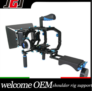 DSLR Camera Shoulder Stabilizer Rig Movie Kit, Follow Focus , Matte Box Top Handle Camera Rig Kit Dual Shoulder For Photography