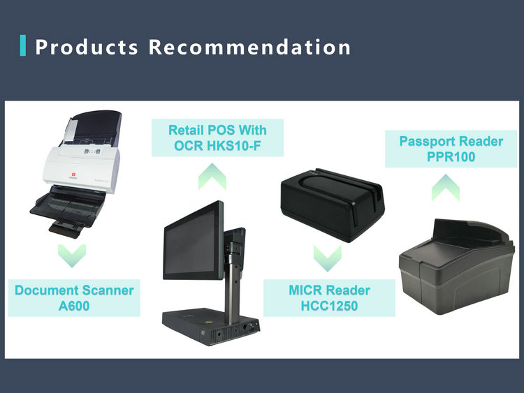 ID Card Identification USB Visualizer Camera Flatbed Webcam High Speed Document Scanner For Kiosk HCS1200S